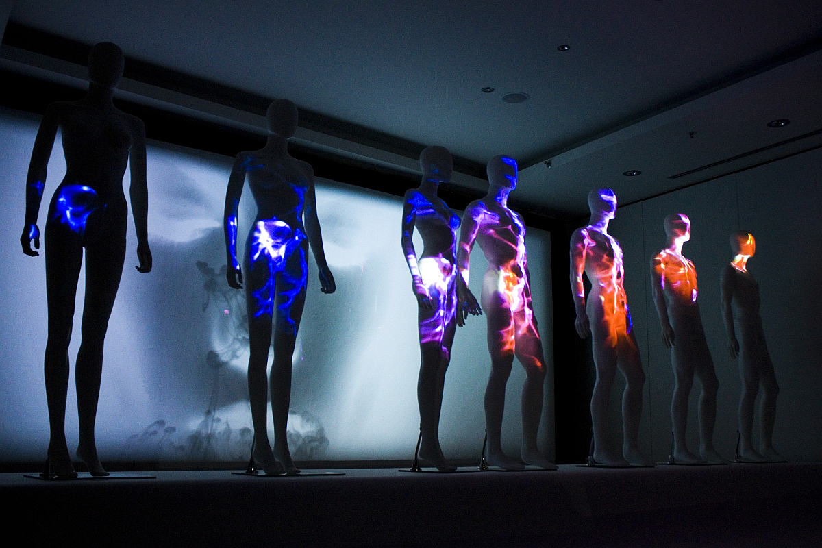 Mannequin projection mapping using Unity.